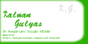 kalman gulyas business card
